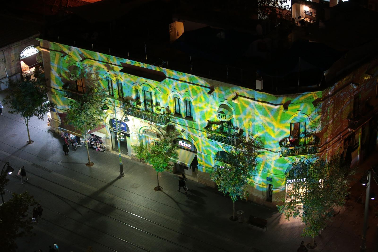 תאורת לילה מיוחדת ברחוב יפו