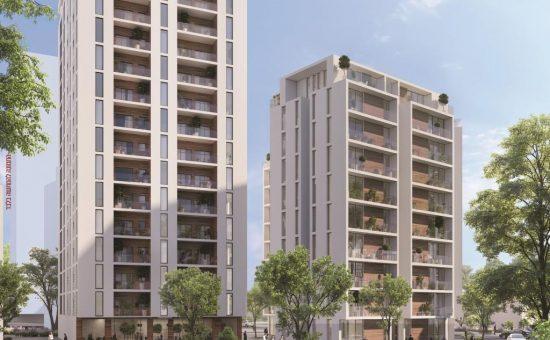 הדמיית בניינים בשלב א' בתכנית ההתחדשות שמקדמת נתיב פיתוח בשכונת ביאליק בבית שמש קרדיט הדמייה אול אין