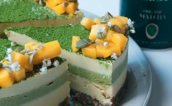 עוגת מאצ'ה מנגו 22 קרבון צילום יחצ חול