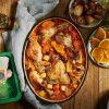 מתכון עסיסי של תבשיל קדירת עוף בתפוזים