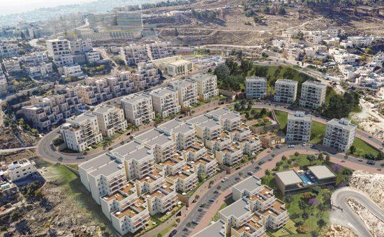 פרויקט נוף ציון בירושלים המשווק על ידי חברת דרא קרדיט הדמייה אול אין