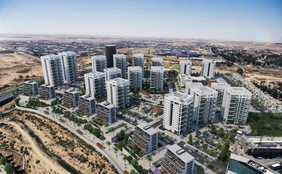 פרויקט צרפתי בנאות הדרים בבאר שבע, הדמיה 3Dvision (מוקטן)