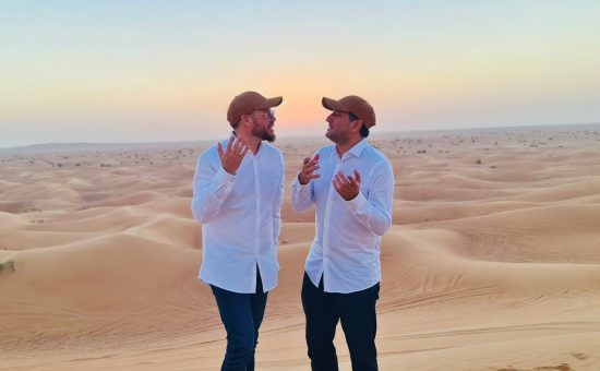 שוקי סלומון וחיים ישראל בדובאי