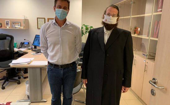 יצחק טיקוצקי מנכל קריירה ואיציק שמולי שר הרווחה